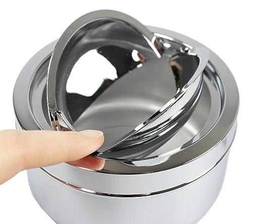 com-four® Cenicero Cerrado 2X de Metal para Uso en Interiores y Exteriores con función de Puerta Plegable (Falttürfunktion - 2er Set Mix): Amazon.es: Hogar