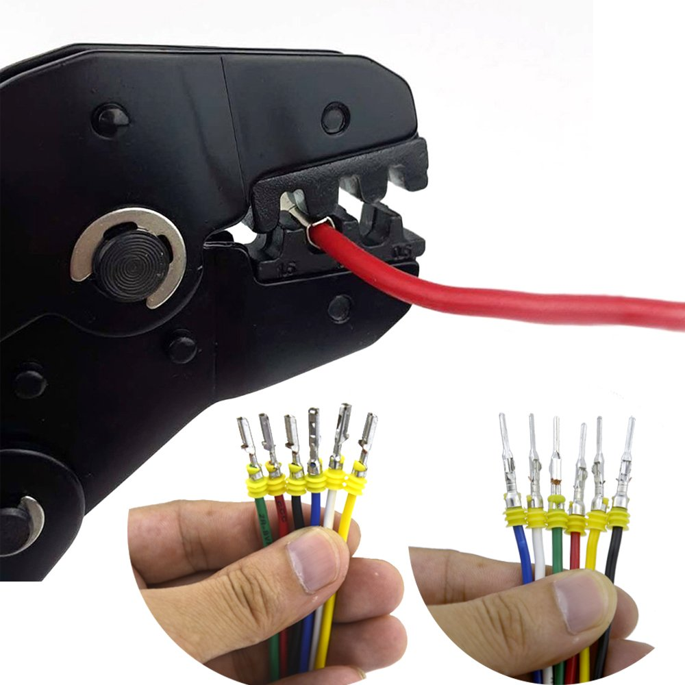 10 Set Waterproof Electrical Connector Plug Terminals Heat Shrink 2/3 Pin Way with Fuses, Clear Box by Qook (Image #4)