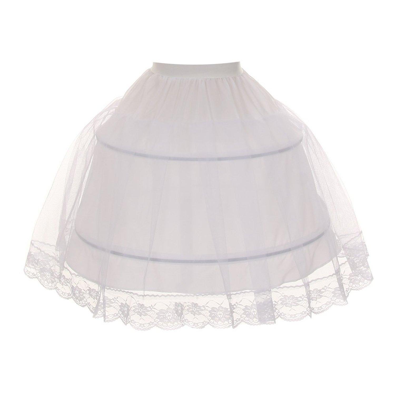 Kids Dream Big Girls White Half Hoop Wire FULL Princess Petticoat 10