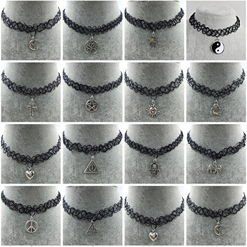 iWenSheng Gothic Stretch Pendant Necklace