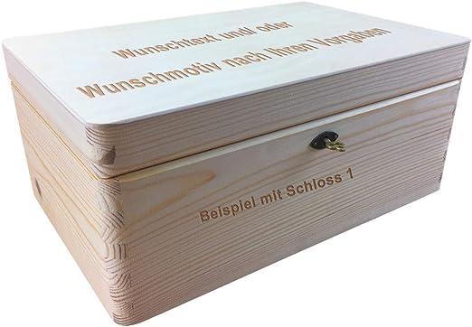 MidaCreativ Cierre Caja de Madera/Caja de Madera, tamaño 1 Pino ...