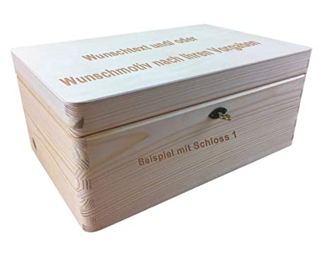 MidaCreativ Cierre Caja de Madera/Caja de Madera, tamaño 1 ...