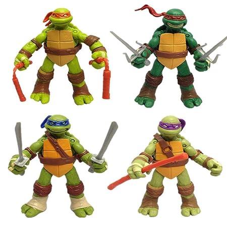 LU-DOLL 4pcs Tortugas Ninja Muñecas Bolso Transparente ...