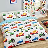 Price Right Home Trucks and Transport 2 Piece UK Double/US Full Sheet Set, 1 x Double Sided Sheet and 2 x Pillowcases