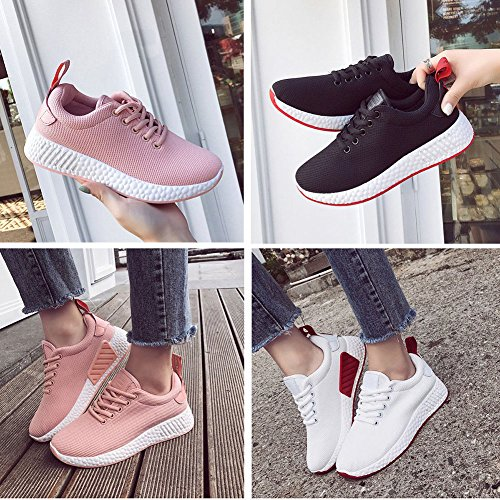 Vintage Gym Jianhui oras con Womens Shoes Las Top Sneakers Platform Walking Libre Se de Trainers Running Moda al Flats Tendencia Transpirable Cordones Ocio Aire Rosado Low Shoes rrnTqxZ