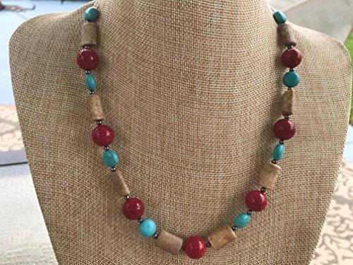 Round Black Coral Necklace - 4