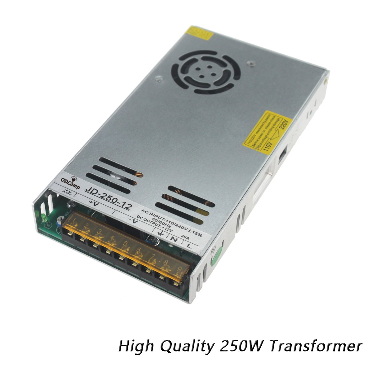 DC 12V 120W 250W 400W 500W Led Transformer Power Supply Driver Constant Voltage LED For Led Strip Led Module Lights (250W) by odlamp (Image #1)