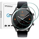 [3 Pack] Orzero for Ticwatch C2 / Ticwatch E2&S2 Tempered Glass Screen Protector, 2.5D Arc Edges 9 Hardness HD Anti-Scratch Bubble-Free [Lifetime Replacement Warranty]