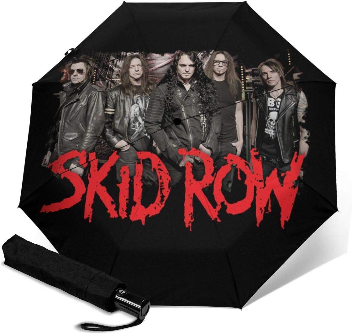 Skid Row Sun Protection Umbrella,Waterproof Travel Automatic Tri-fold Umbrellas