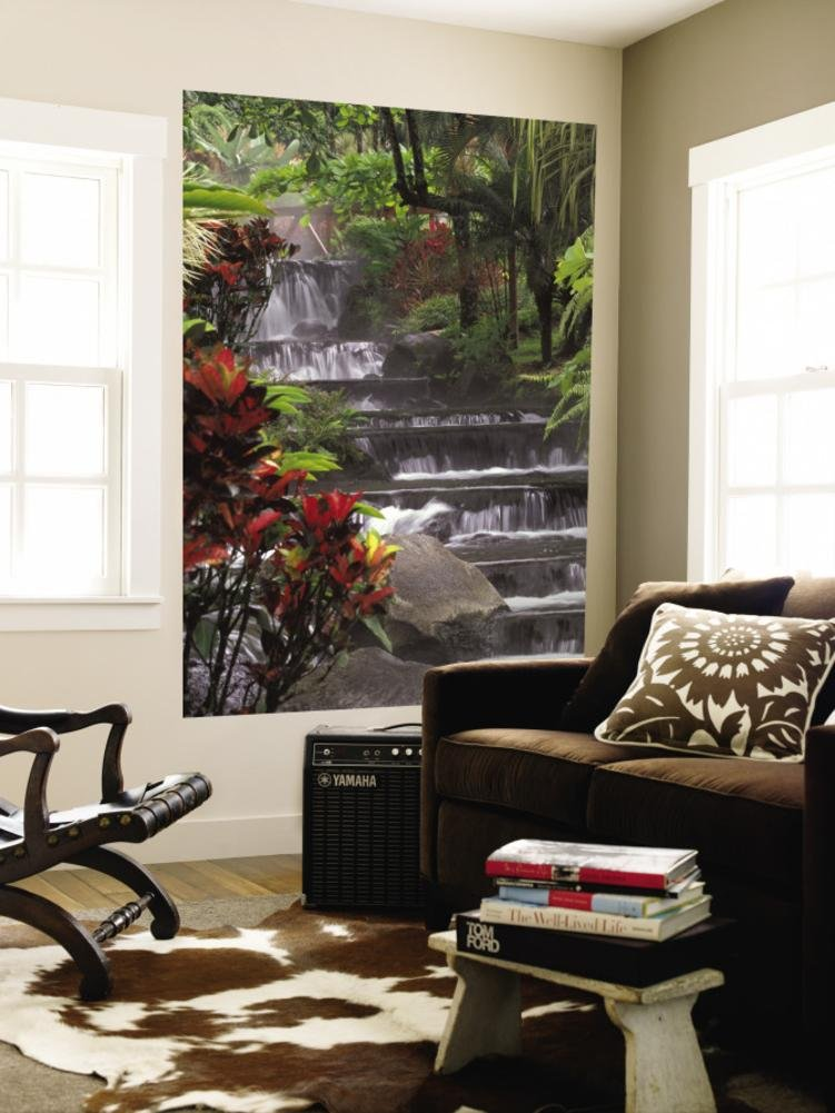 Spa and Gardens of Tabacon Hot Springs, Costa Rica Wall Mural 48 x 72in
