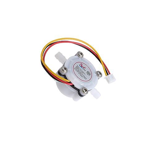 ukcoco Sensor de flujo de agua, control del fluido 0.3 – 6L/Min DC