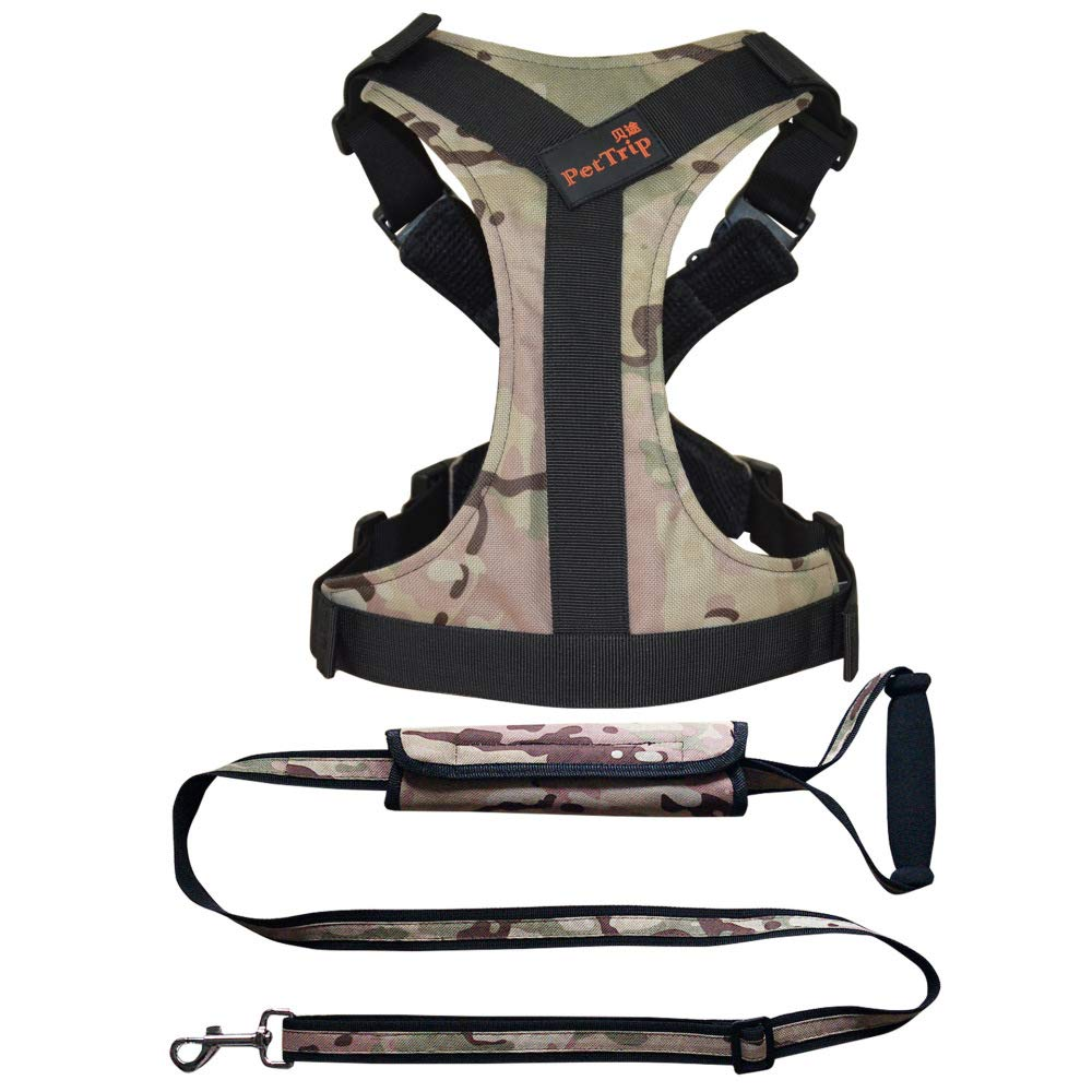 Greencamouflage Sneckcircumference20JXJL Padded Adjustable Pet Vest Harness With Handle Front Clip Harness For Large Dogs Training Or Walking,RedLneckcircumference3460bust3570cm