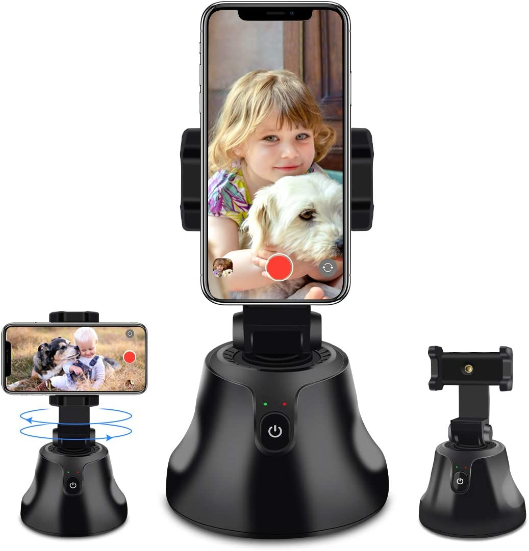 Smart Portable Selfie Stick,360°Rotation Auto Face Object Tracking Camera Tripod Holder Smart Shooting Cell Phone Camera Mount, Vlog Shooting Smartphone Mount Holder for All iPhone Android Phone: Camera & Photo