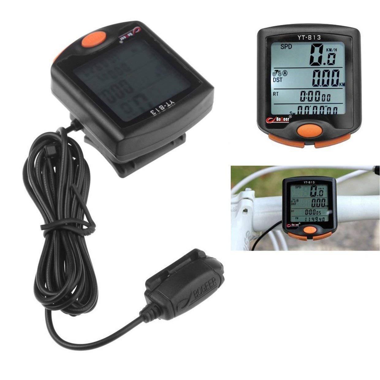 Qewmsg BOGEER YT-813 Vélo sans Fil Cyclisme Vélo Ordinateur Odomètre LCD Compteur De Vitesse Électronique