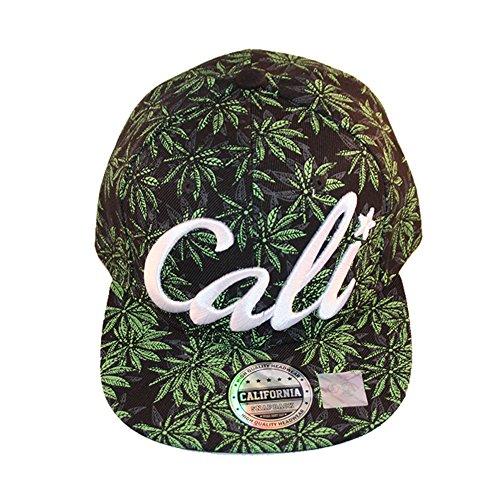 Cali-Script-Weed-Marijuana-Snapback-Cap