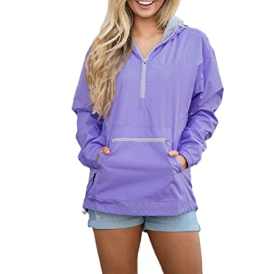 moderate cost big sale classic style of 2019 Ytwysj Women Classic Monogrammed Front Pocket Pullover Rain ...