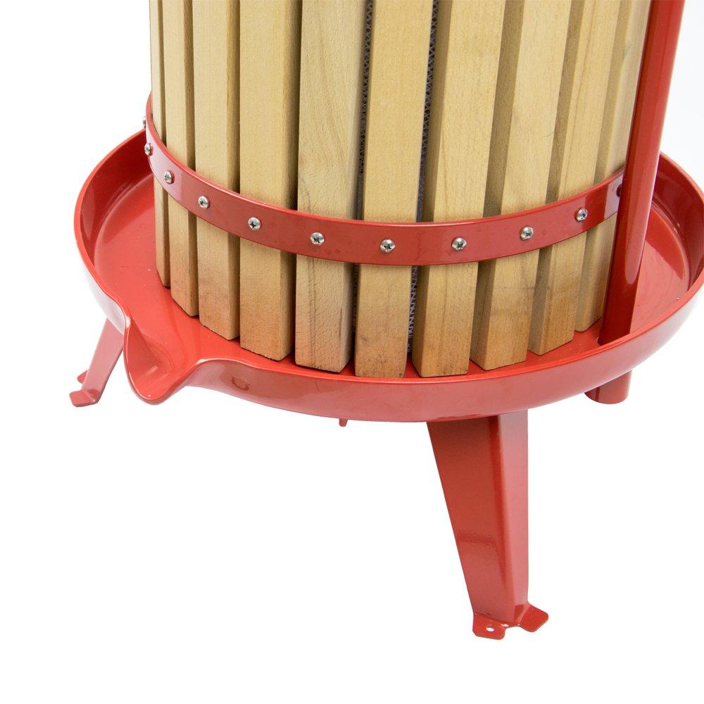 EJWOX 4.75 Gallon Fruit Wine Press, Heavy-duty Cross-beam Hardwood Cider Press by EJWOX (Image #7)