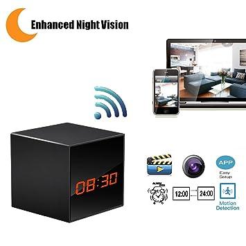 lizvie – Cámara espía HD con visión nocturna mejorada, detección de movimiento, lente invisible