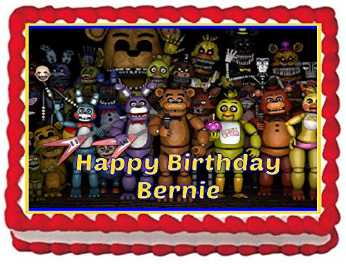 five-nights-at-freddys-personalized-edible-cake-topper-image-1-4-sheet-8-x-105