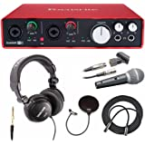 Focusrite Scarlett 6i6 USB Audio Interface (2nd Gen) + Free Mic, Headphones, XLR Cable and Pop Filter