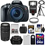 Canon EOS Rebel T5i Digital SLR Camera & EF-S 18-135mm IS STM Lens with EF 75-300mm III Lens + 64GB Card + Battery + Case + Flash + Filters + Kit