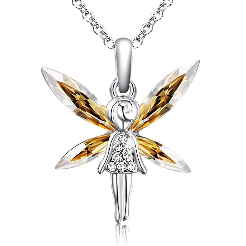 STAR SANDS ángel suave collar colgante de cristal fabricado con cristales Mariquesa