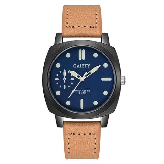 Reloj Hombre, Magiyard Relojes De Cuero Band Analog Quartz Reloj De Pulsera De Ronda (