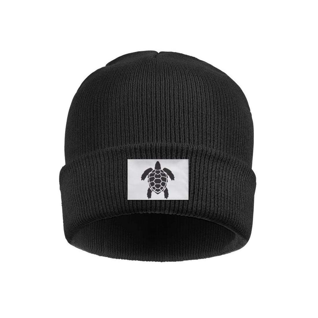 NSKJHYIp Headwear for Mens Womens Cold Weather Solid Color Black Turtle1 Beanies