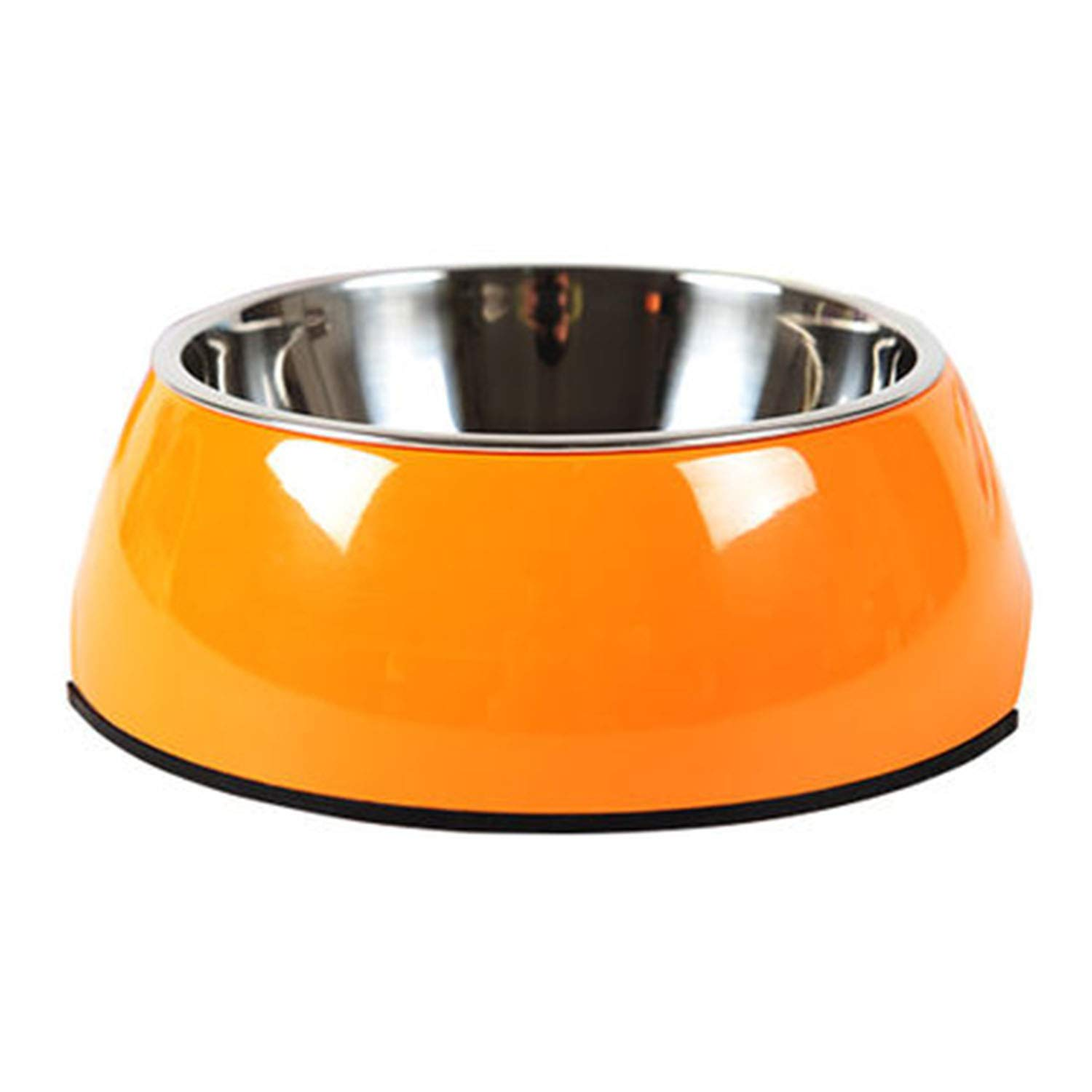 orange L orange L Manda Ocean Pet Bowls Stainless Steel Dog Cat Pet Bowl Universal Pet Water and Food Bowls 4 Sizes and 5 colors Available (L, orange)