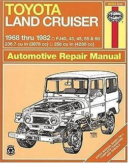 toyota land cruiser fj40 43 45 55 60 68 82 haynes repair rh amazon com Toyota Land Cruiser FJ40 toyota land cruiser bj40 repair manual pdf