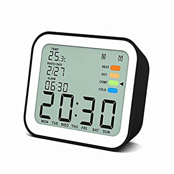 SYT Alarm Clock Relojes despertadores Digitales LCD con Despertador Reloj Despertador con calendarios Luz de Fondo electrónico Reloj de Escritorio ...