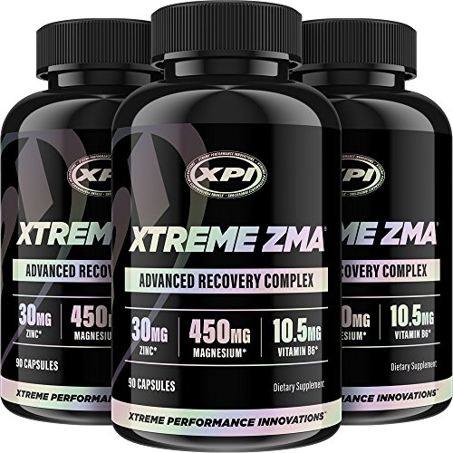 Xtreme ZMA 90 Caps (3 Pack) - Muscle Recovery - Post Work Out Supplement, Work Out Supplements