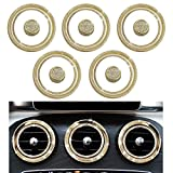 1797 Mercedes Accessories Benz Parts Trim Inner Air Conditioner Vents Outlet Caps Covers Decals Stickers Interior Visors Decorations W205 X253 C Class GLC AMG Women Men Bling Crystal 3M Gold 15Pcs