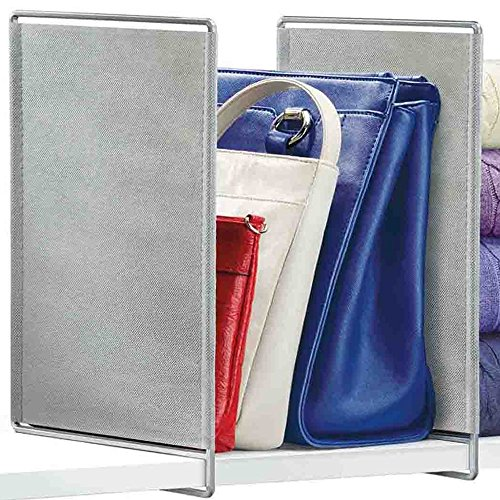 HomyDelight Closet Shelf Dividers (Set of 2) 4 lbs 2.13'' 13'' 8.38'' Platinum by HomyDelight