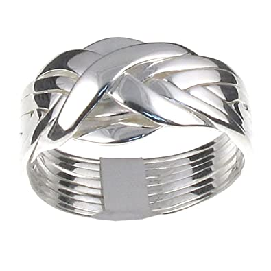 Tuscany Silver Sterling Silver Four Band Puzzle Ring