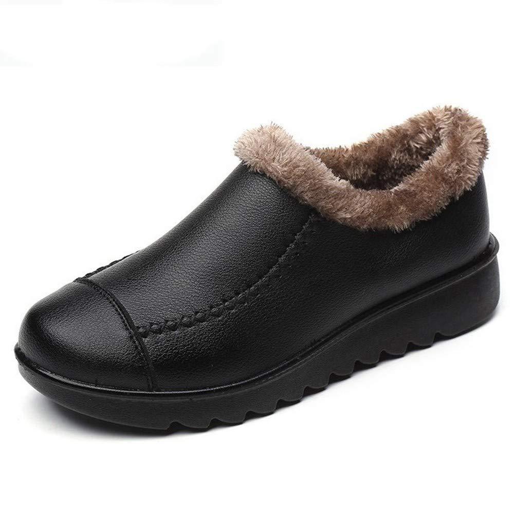 PINGXIANNV Mutter Schuhe Wenig Baumwolle Weichen Weichen Weichen Boden Anti-Rutsch-Schuhe Im Mittleren Alter Alten Frauen Baumwolle Oma Schuhe Schnee Stiefel 9479cd