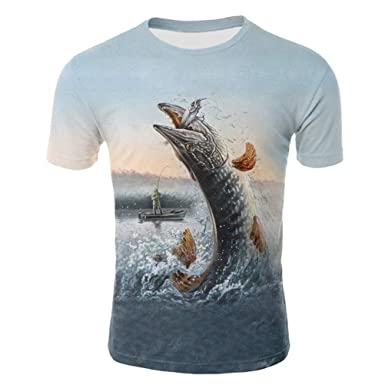Unisex Cool Novelty 3D Pattern Printing T-Shirt Summer Short-Sleeved Round Neck T-Shirt Vitality Youth Casual Shirt