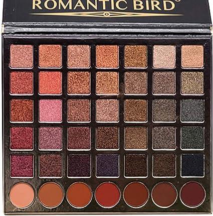 Cloxwg - Sombra de ojos, 42 colores, mate, color calabaza, sirena, Ji vino tinto, maquillaje en polvo, sombra de ojos, paleta cosmética: Amazon.es: Belleza