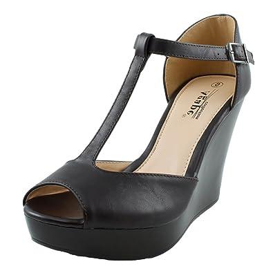 9c582187f545 Agape Pasadena-87 Peeptoe Lightweight Platform Wedge Sandal Brown Size  6.5  B (M