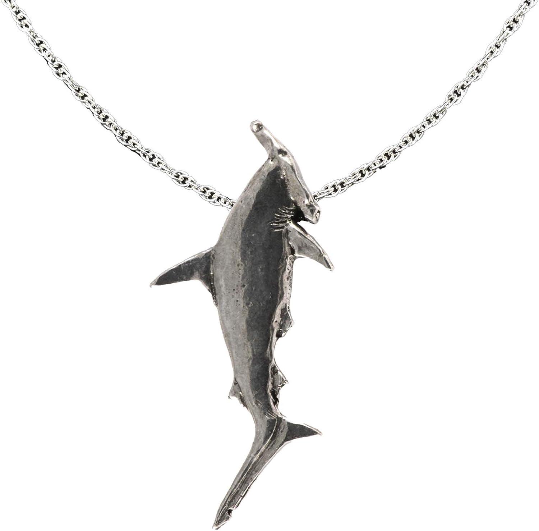 Creative Pewter Designs Hammerhead Shark Pewter Pendant, Necklace, Jewelry, S118PEN