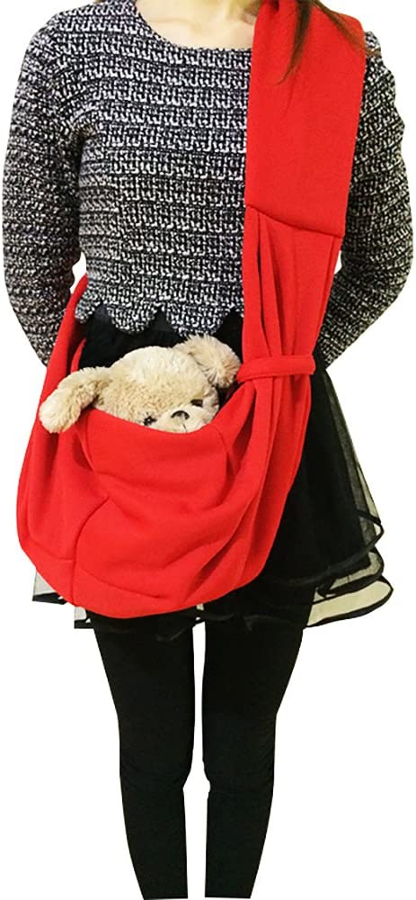 Tiger Mama Reversible Pet Sling Carrier for Pets Up to 12 lbs