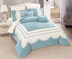 Winter Double Comforter by Horus, Set 8 Pcs, King Size-Artha-010