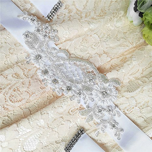 for Sashes Ivory Wedding Wedding Azaleas Bridal Pearl Sash Belts Women's Belt np8v4