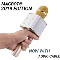 MAGBOT Handheld Wireless Microphone Mic With Audio Recording Bluetooth Speaker & Karaoke Feature For All Tablets PCs iOS Android Smartphones (Random Color) (Advance Q7)