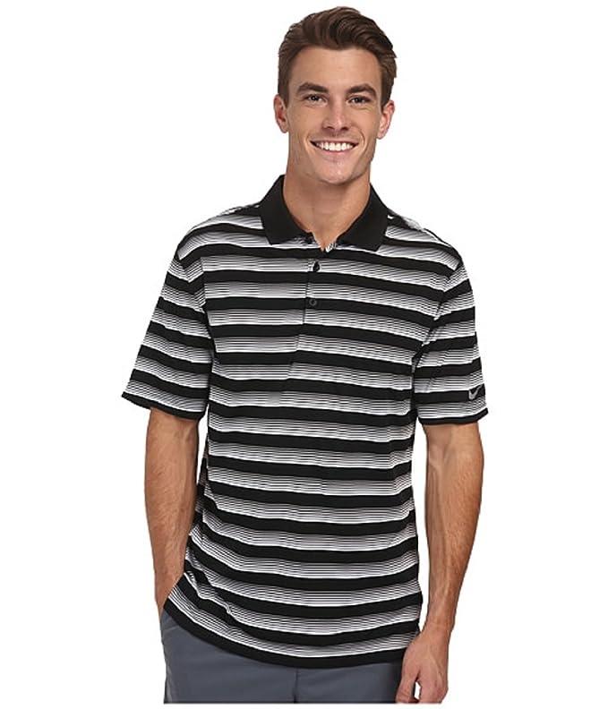 Nike Golf Mens NFS Tech Vent Striped Polo Short Sleeve Shirt ...
