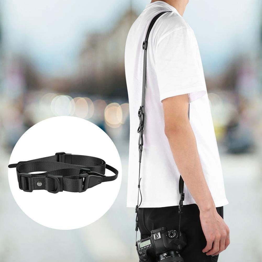 Vbestlife Camera Strap Dark Grey Universal Nylon Adjustable Camera Neck Shoulder Carrying Sling Belt for SLR Mirrorless Instant Camera