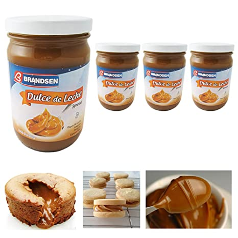 Amazon.com : 4 Jars Dulce De Leche Argentina Milk Caramel Spread Kosher Arequipe Brandsen Lot : Office Products