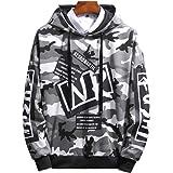 elegantstunning Unisex Hip-hop Style Fashion Camouflage Pattern Printing Stylish Hoody