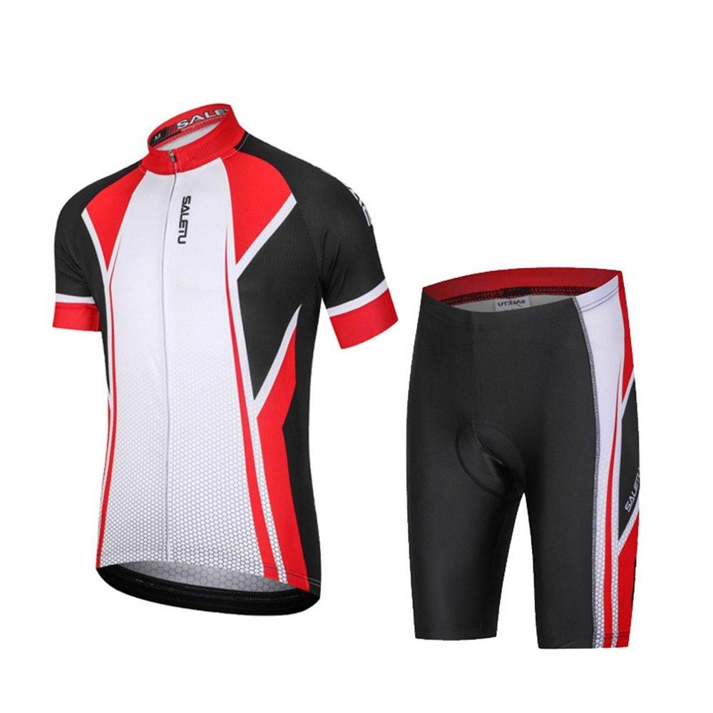 KIKIYA Frauen/Männer Radfahren Kleidung Set Sommer Breathable Bequeme Kurzarm Trikot + Padded Riding Shorts Reiten Sportswear