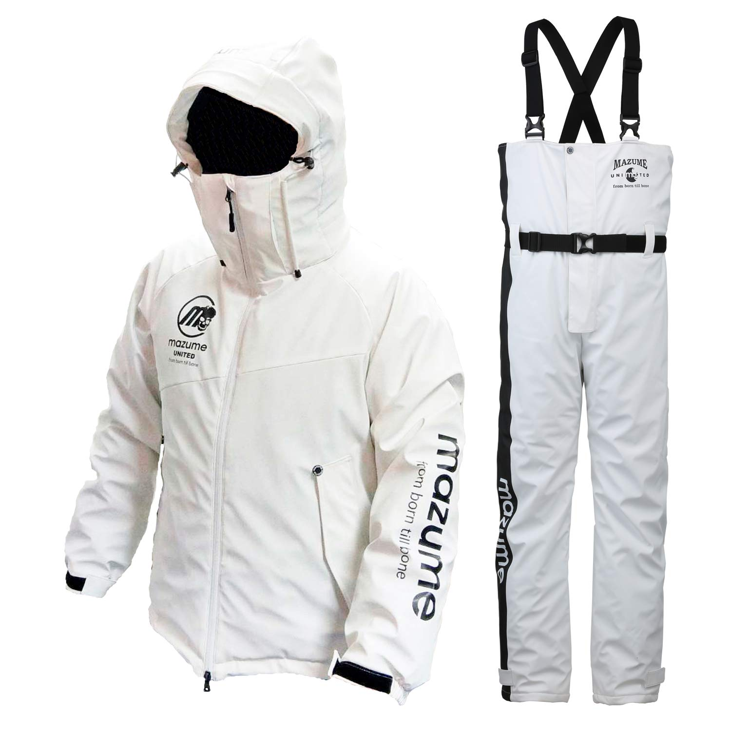 MAZUME(マズメ) ROUGH WATER ALL WEATHER SUIT MZFW-384 B07HBFTQDF ホワイト Large